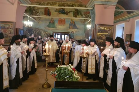 Наместник монастыря архимандрит Павел совершил чин отпевания монаха Самуила