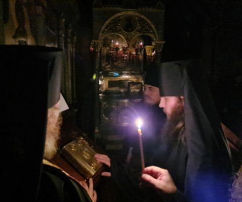 В монастыре совершен чин иноческого пострига